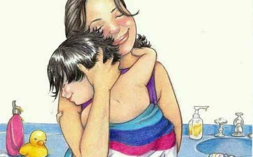 Äidin syli on aina lapsen koti