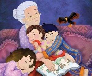 isoäiti ja lapset