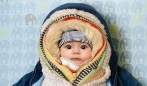 vauvan liika pukeminen
