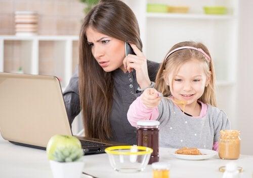 lapsi ja vanhemman työ