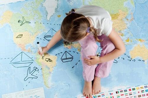 lapsen matkustelu
