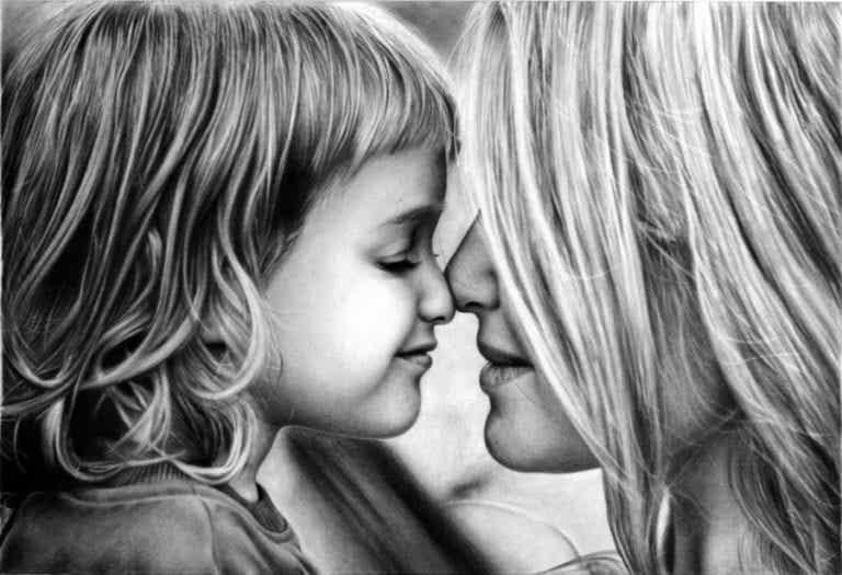 Äiti rakastaa lastaan enemmän kuin itseään