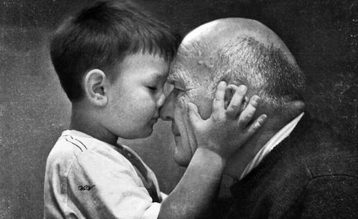 Isoisäni on mies, jolla on harmaa pää ja kultainen sydän