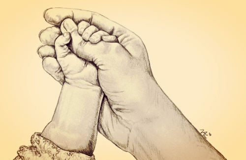 Se ihmeellinen hetki, kun vauva tarttuu ensimmäisen kerran vanhemman sormeen