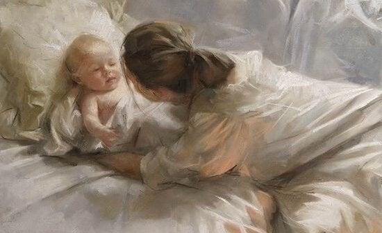 Lapsen suukottaminen aamuisin on terveellistä