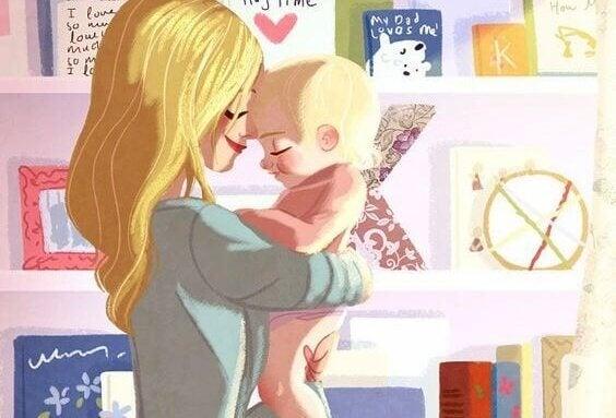 Lapsen suukottaminen aamuisin on hyödyllinen rituaali