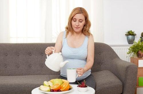 Raskaana olevan naisen ruokavalio