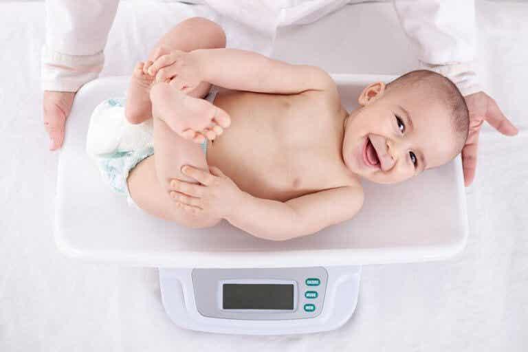 Vauvan painon kehitys ensimmäisenä elinvuotena