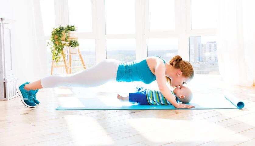 Kun synnytyksestä on kulunut vähintään kuusi viikkoa, voi alkaa harrastaa aerobista liikuntaa