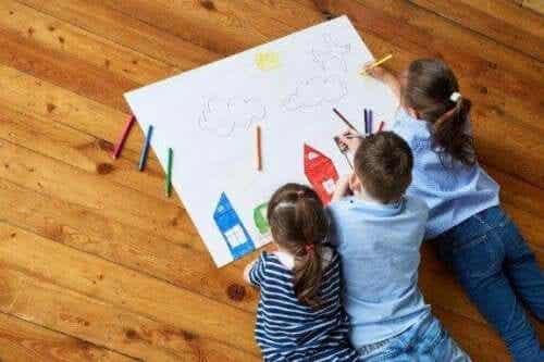 Piirtäminen on erinomainen tapa stimuloida lapsen luovuutta
