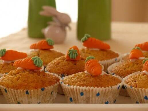 Porkkanamuffinsit maistuvat varmasti perheen pienimmille.