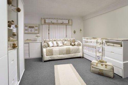 Pastellivärit sopivat hyvin vauvan huoneeseen