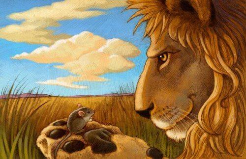 Satu leijonasta ja hiirestä opettavat lapselle kunnioituksen tärkeydestä