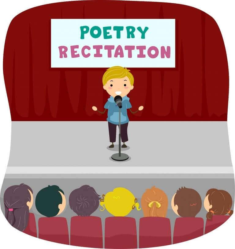 Lapsi voi lausua runoja sukulaisille ja ystäville