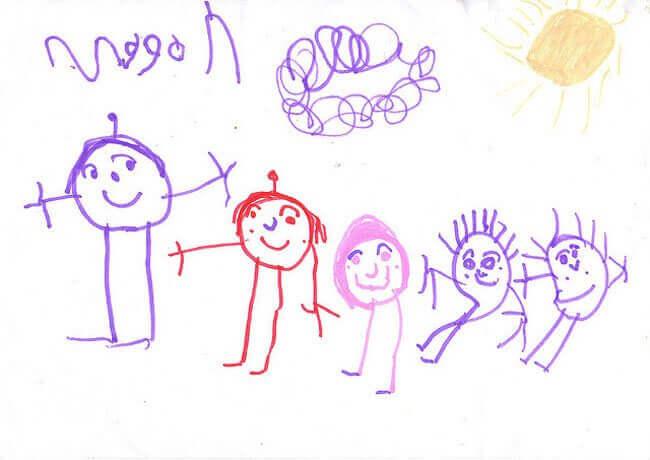 Lapsen piirrokset ilmaisevat lapsen kokemia tunteita ja ajatuksia