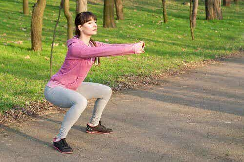 Harjoitukset lantionpohjan lihasten vahvistamiseen