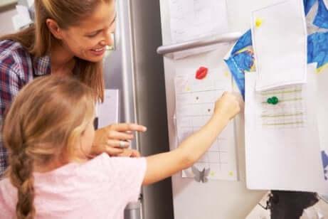 Palkintotaulukko lapsen käytöksen parantamiseksi