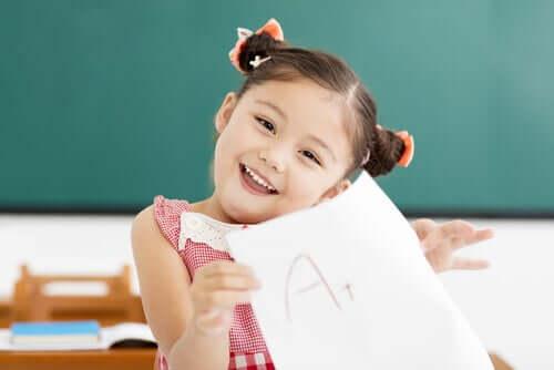 Lapsen halu onnistua