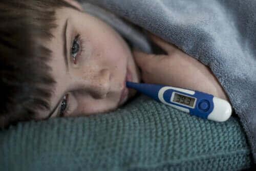 Kasvaako lapsi ollessaan kuumeessa?