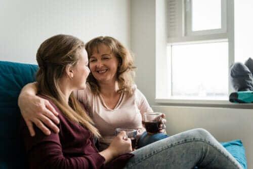 Vanhemman ja lapsen välinen positiivinen keskustelu