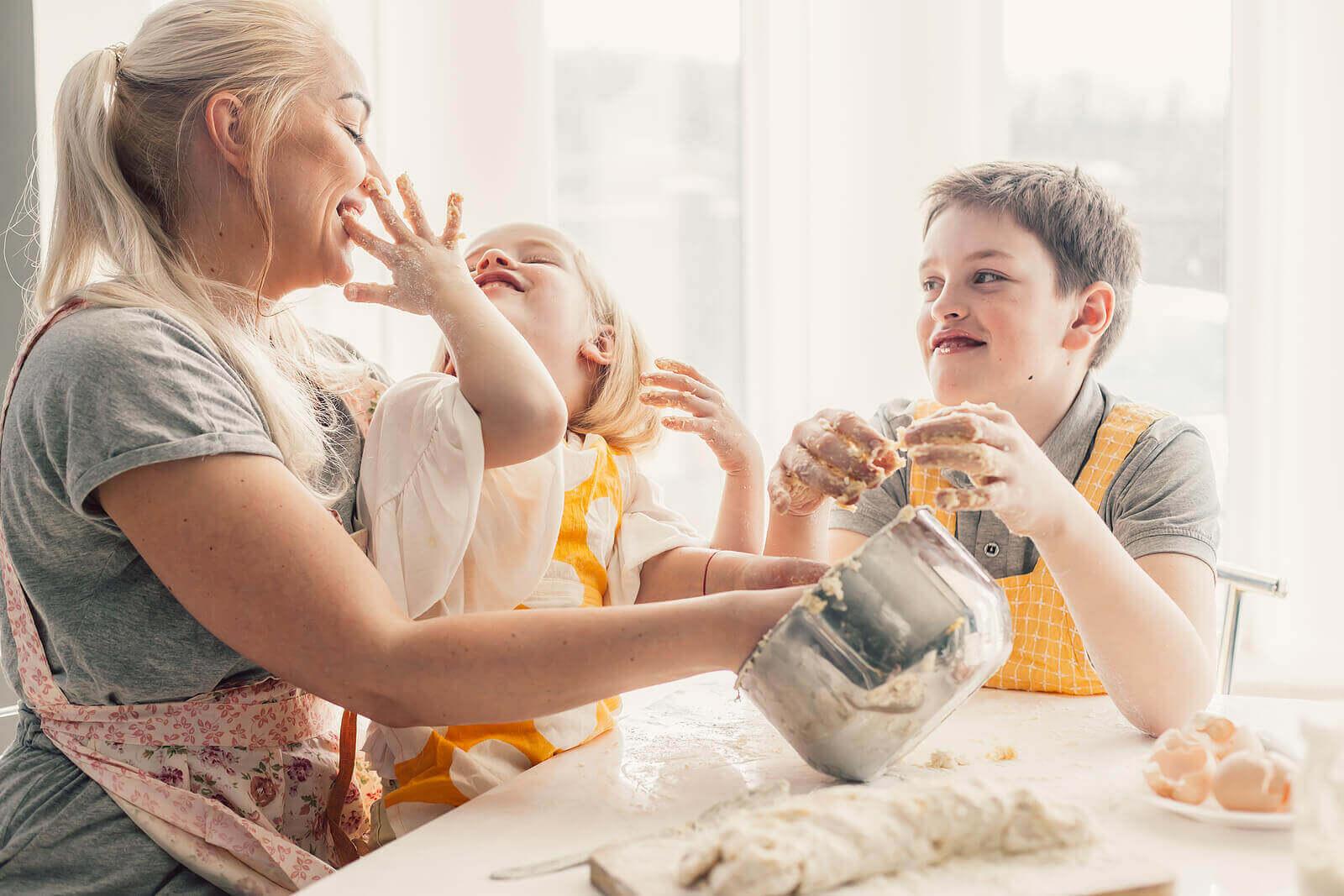 Ruoanlaitto perheen kesken on hyödyllistä lapselle
