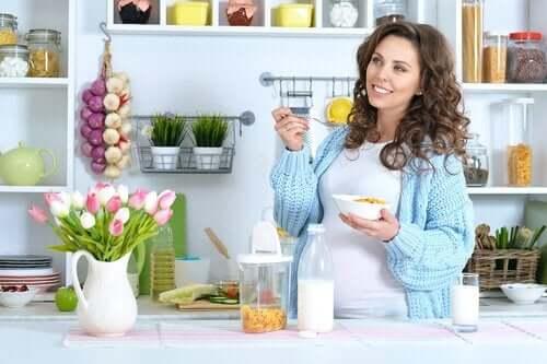 Terveellinen ruokavalio raskauden toisella kolmanneksella